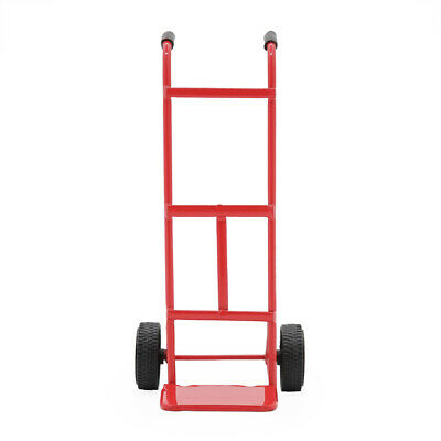 1:12 Dollhouse Red Hand Truck w/ Working Wheels Metal Dolly Tool Miniature Decor