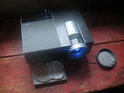 DELL 4220 4,100 Lumens HDMI DLP Projector 621 Hrs w/ Remote Case Cables TESTED