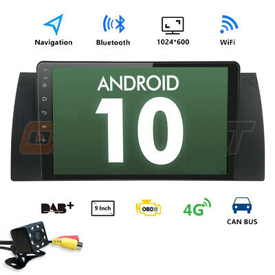 "9"" Touch HD Android 6.0 Car Stereo Radio GPS DAB+ For BMW E39 E53 X5 M5+Camera"