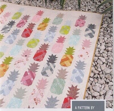 Pineapple Farm - fun modern pieced quilt PATTERN - 4 sizes - Elizabeth Hartman
