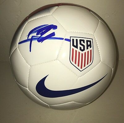 Christian Pulisic Signed Autograph Soccer Ball USA US