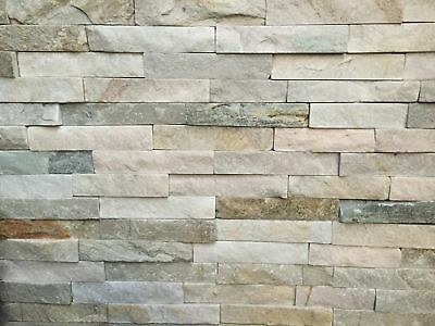 Quartzite Stackstone Wall Cladding Tiles and Corners - From $5.30 per piece