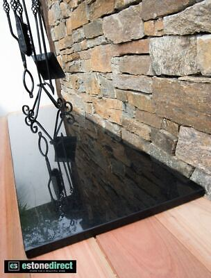 Granite Hearth - Black Polished 1500x400x20mm