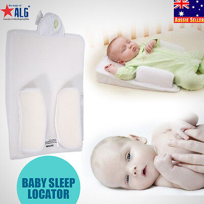 Infant Newborn Baby Anti Roll Pillow Sleep Positioner Prevent Flat Head Cushion