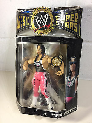 "Bret ""hitman"" Hart Classic Wwe Super Star Wrestling Figure Boxed W/ Belt"