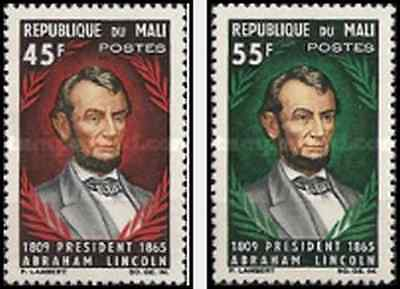 Timbres Personnages Lincoln Mali 69/70 ** lot 20925