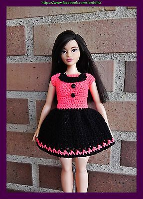 Clothes for curvy Barbie and Barbie regular dolls: Dress