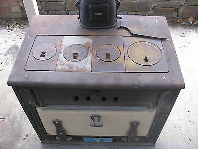 SIMPSON GIFFHORN No.2 COMBUSTION WOOD STOVE cooking pizza wood FULLY RESTORED