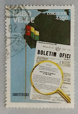118.cape Verde Used Stamp Constitution, Flags