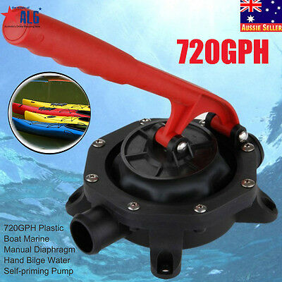 Cool 720GPH Manual Diaphragm Boat Marine Bilge Plastic Water Self-priming Pump