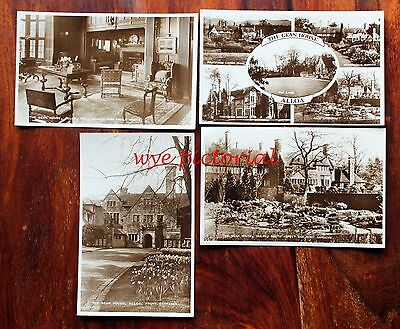 Gean House Alloa -  4 Real Photo Postcards Clackmanmanshire