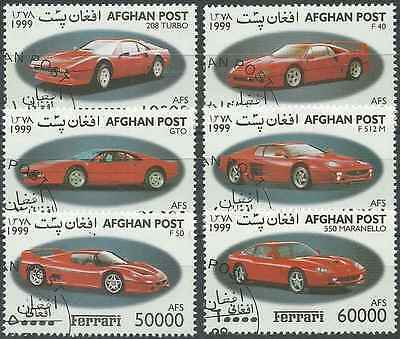 Timbres Voitures Ferrari Afghanistan o lot 20942