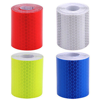 3m*5cm Car Truck Reflective Self Adhesive Safety Warning Tape Roll Film Stickers