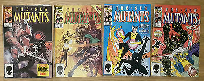 New Mutants - Issues # 29 30 33 35 Marvel comics from 1985