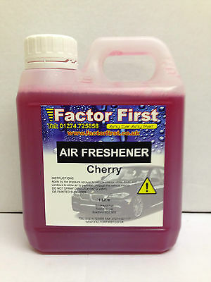 CHERRY CAR AIR FRESHENER LIQUID CONCENTRATE 1 Litre CAR VALETING FACTOR FIRST a