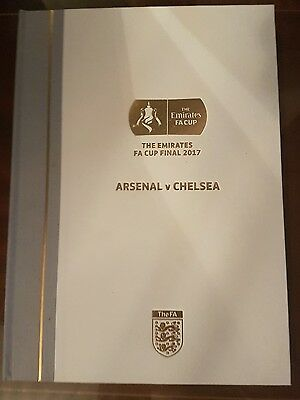 FA Cup 2017 Limited Edition Hardback Programme.
