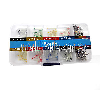 160PCS Dental Glass Fiber Post Single Refilled Package & Free For 32 PCS Drills