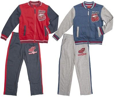 Boys Disney Cars Lightning McQueen My Hero Zip Tracksuit Jog Set 3 to 8 Years