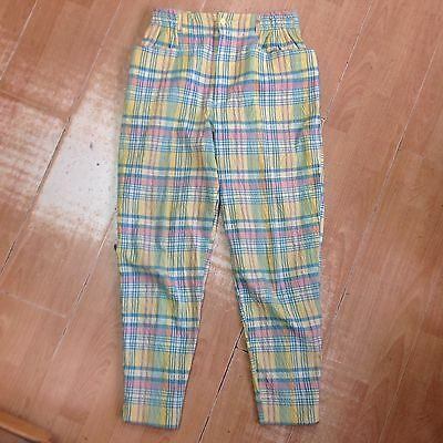 Vintage Benetton Checked 1980 Trousers Size 44