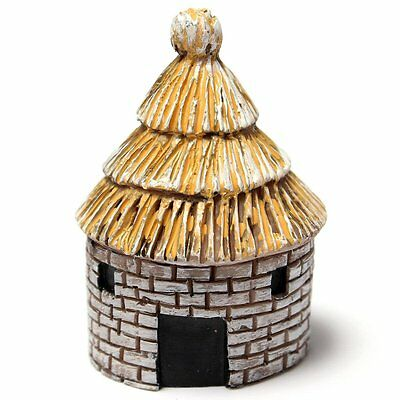 Thatched House Miniature Garden Craft Landscape Plant Pot Bonsai Fairy Ornament