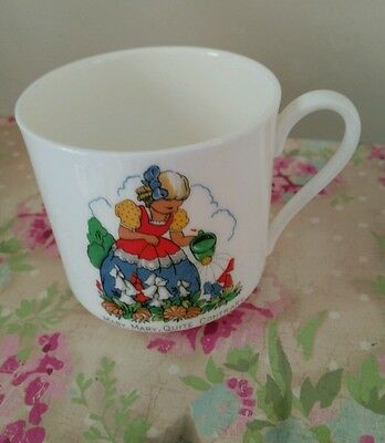 Vintage Nursery Rhyme Mary Mary Quite Contrary Children's Delicate China Mug