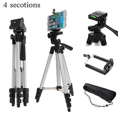 Professional Camera Tripod Stand Holder Mount +Bag For Cell Phone iPhone Samsung