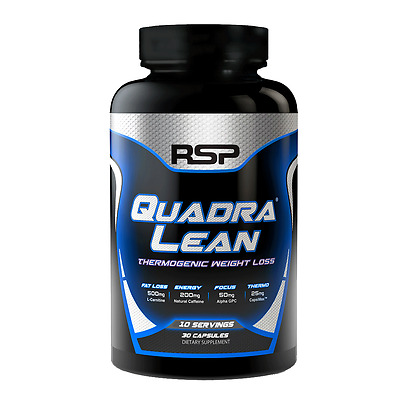 RSP QUADRALEAN THERMOGENIC 180capsules Natural, Clean Energy and Focus