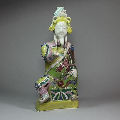 Chinese polychrome figure of Guandi (the God of War), 19th century