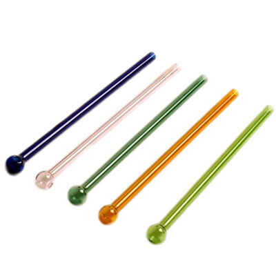 Reusable Colorful Pyrex Glass Drinking Straw Wedding Birthday Party