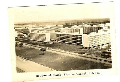 Vintage Postcard - Residential Blocks - Brasilia, Capital Of Brazil