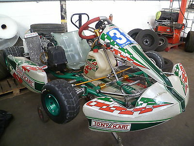 Used Tony Kart 2008 With Stand, Spare Wheels, Cover - collection only