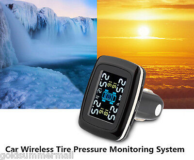 TP620 Car LCD Wireless Tire Pressure Monitoring System with 4 x External Sensor