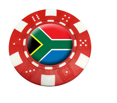 South Africa Poker Chip Golf Ball Marker