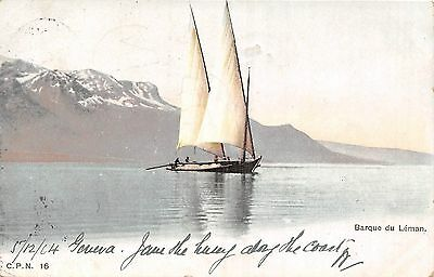 POSTCARD   SWITZERLAND     Barque  du  Leman
