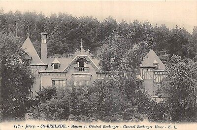 POSTCARD   JERSEY   GENERAL  BOULANGER   House