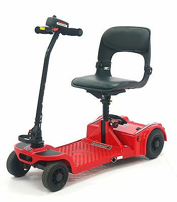Pro Rider Deluxe Folding Mobility Scooter Red *fits In Most Car Boots*