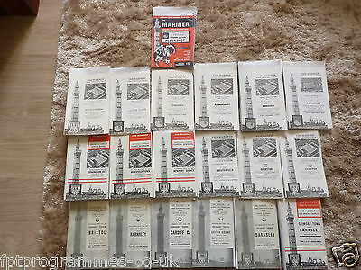 Grimsby Town Home Programmes 1960/61 to 1978/79  Select from list