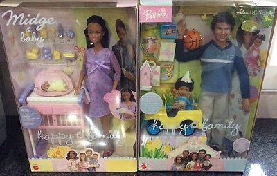 Pregnant Midge & Baby Barbie Doll Pink Alan Happy Family African American