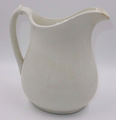 Vintage 'the Colonial Co' White Ironstone Large Pitcher