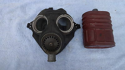 WW2 ARP Soldier Gas Mask dated 1940 & 1941 London Blitz Home Front