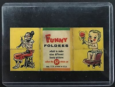 """Vintage 1955 Funny Foldees Comic Item #57 Printed in USA w/ No Rips Tears 3 1/4"""""""