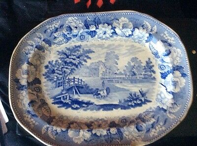 Vintage Antique Willow Pattern china