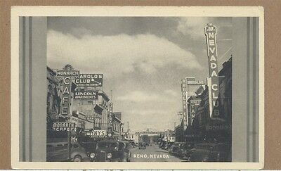 c1930s Downtown Reno NV Monarch Harolds Nevada Club Photo PC Reno Arch