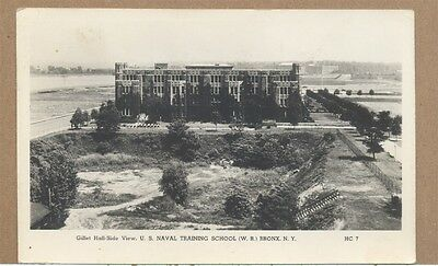 1944 WWII Gillet Hall US Naval Training School Bronx NYC NY Photo PC