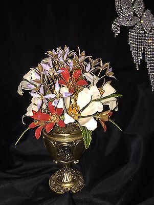 """Carl Faberge """"The Imperial Russian Bouquet"""" Dipped in 24K Gold Franklin Mint Vtg"""