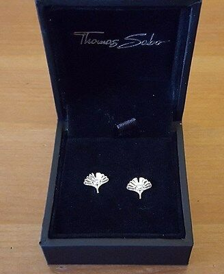 Earrings silver 925 stud with white zirconia by Thomas Sabo