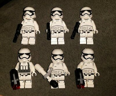 Star Wars Lego Stormtrooper lot of 6 75103 75139 75132 + bonus At-At + officer