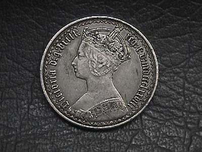 Great Britain 1878 Queen Victoria Full Silver Gothic Florin
