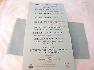 Defense Mapping Agency DMA Nautical Charts & Publications Catalogs Regions 2-9