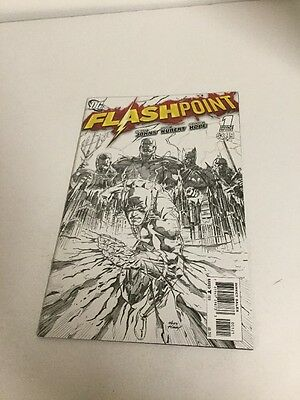 Flashpoint Issue 1 Sketch Variant Nm Near Mint 9.4